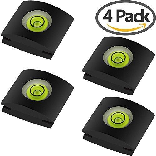Anwenk - Zapata de flash para cámara fotográfica, incluye nivel de burbujas, compatible con cámaras Canon Nikon,...