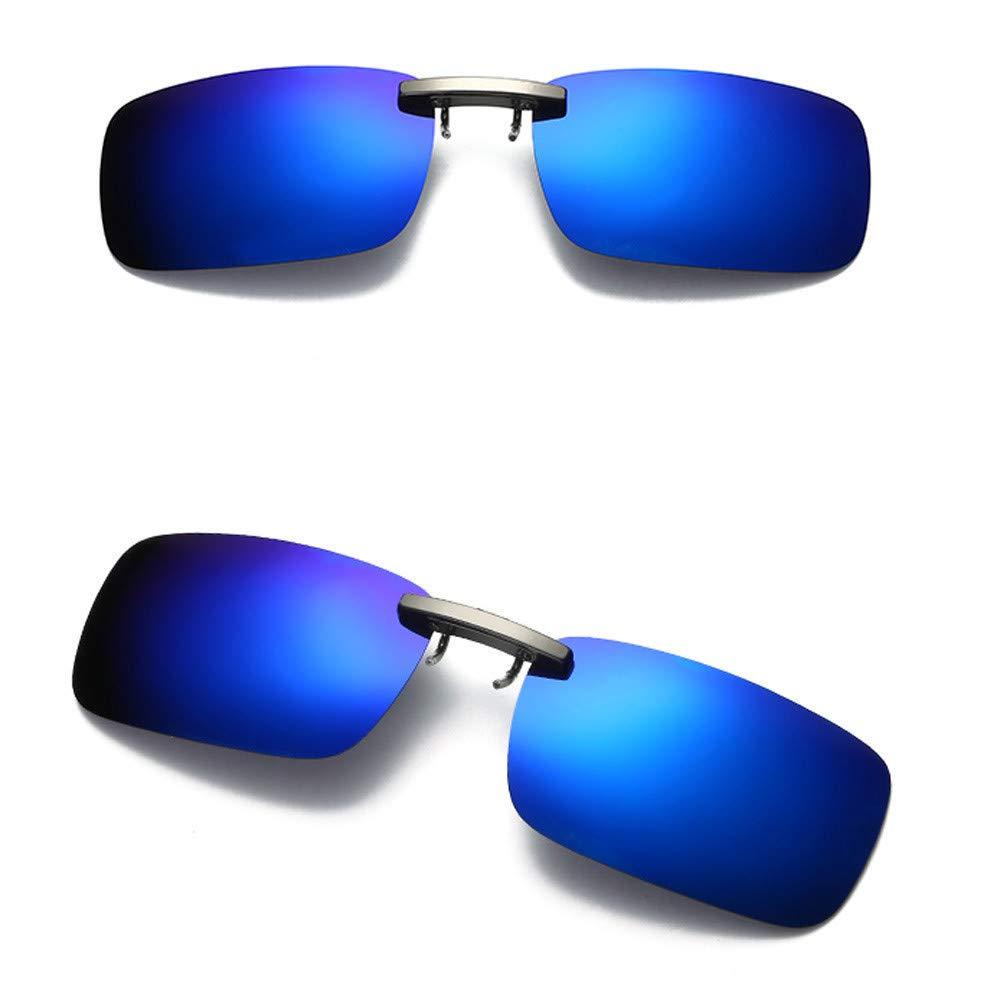 TADAMI Detachable Night Vision Lens Driving Metal Polarized Clip On Glasses Classic Sunglasses