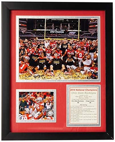 NCAA Ohio State Buckeyes Legends Never Die Framed Photo Collage (2014 CFP Football National Champions), Celebration 1, 11 x 14-Inch