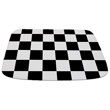 Amazoncom Cafepress Checkerboard Black White Decorative Bathmat