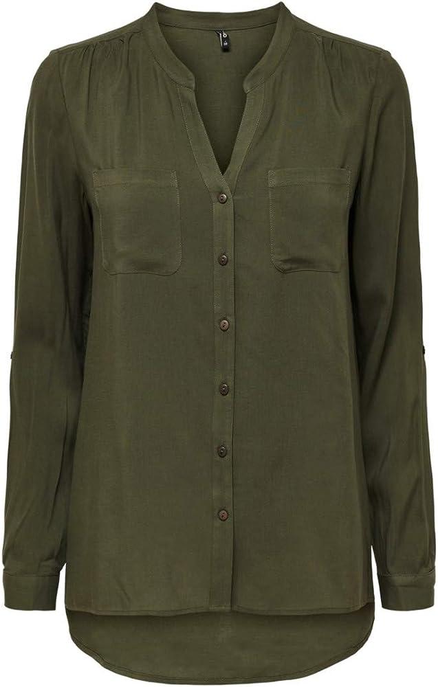 Only Onlfirst LS Pocket Shirt Noos Wvn Blusa para Mujer: Amazon.es: Ropa y accesorios