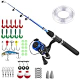 Kids Fishing Pole,Light and Portable Telescopic Fishing rod for Youth Fishing Full Kit