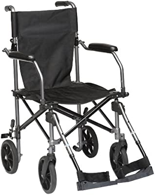 Drive Medical TC005 Travelite - Silla de ruedas (45,5 cm, aluminio ...