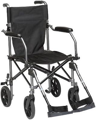Drive Medical TC005 Travelite - Silla de ruedas (45,5 cm, aluminio ...