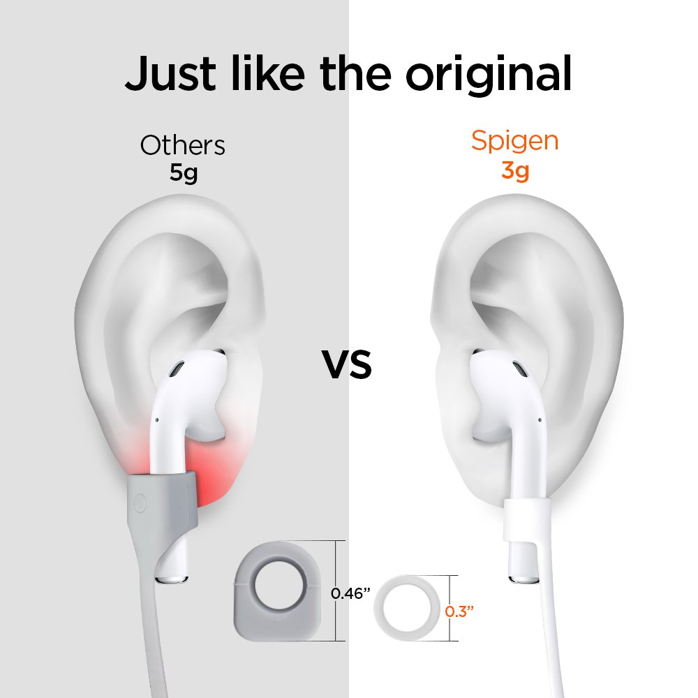 huge discount 3acd6 1efda Spigen RA100 Designed for AirPods Strap Compatible with Apple Airpods 1 & 2  - White