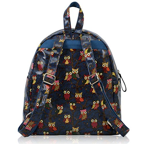 ANNA GRACE - Bolso mochila  de piel sintética para mujer Design 1 - Navy