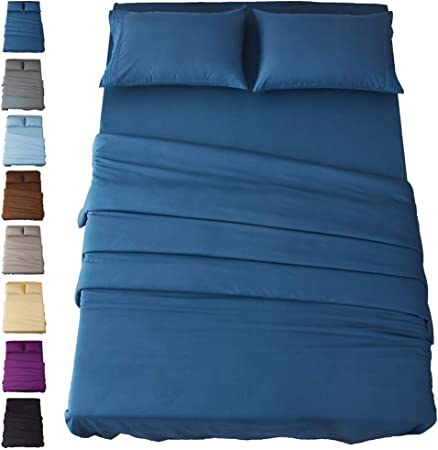Sonoro Kate Bed Sheet Set Super Soft Microfiber 1800 Thread Count Luxury Egyptia