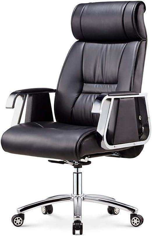 Modern Dark Blue PU Leather Office Home Study Computer Desk Chair Swivel /& Tilt