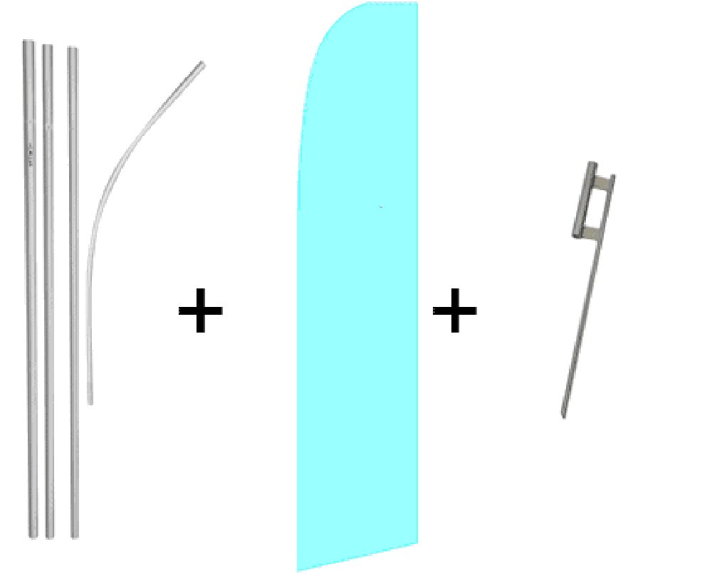 Light Blue Quantity 2 Super Flag & Pole Kits by FlagsImp