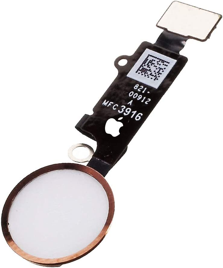 Afeax Compatible with Apple iPhone Home Button Main Key Flex Cable Replacement for iPhone 8 and 8 Plus (Rose Gold)