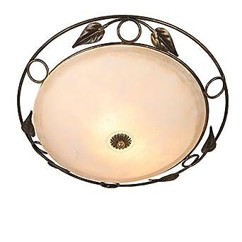 QAZQA Landhaus Vintage Rustikal Deckenleuchte Deckenlampe Lampe Leuchte Senna Antik Gold