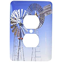 3dRose lsp_94600_6 Texas, Wind Power, Historic Windmills, Energy Us44 Wbi0081 Walter Bibikow 2 Plug Outlet Cover