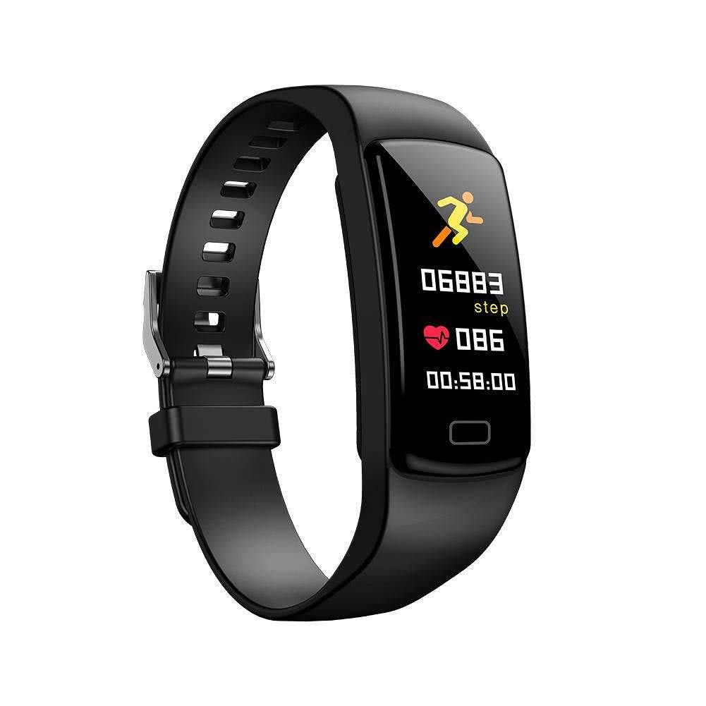 Boens Waterproof Watch,Color Round Touch Screen Sports Band with Heart Rate Sleeping Monitor Bluetooth Fitness Tracker Pedometer Calorie Burning Lose Weight Plans Fits iPhone 9(Black)