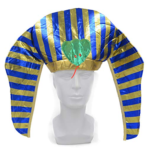 melesh Halloween Egyptian Costume Pharoah Headpiece Hat -