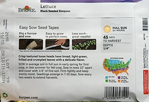 Vegetable 4-Pack Assorted Bundle 22.5 Ft Seed Tape with Radish, Carrots,Beets and Lettuce Seeds by Burpee garden products (Image #4)