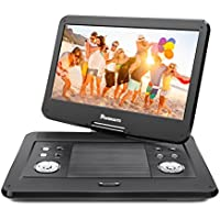 NAVISKAUTO 14 HD Portable DVD Player with High Resolution Large Swivel Screen, 5-Hour Rechargeable Battery, SD Card Slot and USB Port