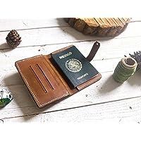 Porta pasaporte 100% piel color café viajes viajero
