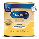 Enfamil Infant Formula - Milk-based Baby Formula with Iron, Powder Can, 21.1 oz (Pack of 4)