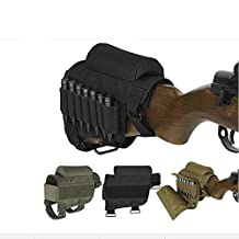 Rifle Buttstock, Hunting Shooting Tactical Cheek Rest Pad Ammo Pouch with 7 Shells Holder