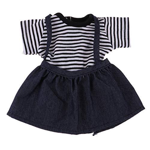 Baoblaze Joli Tee-Shirt Ray et Jupe pour American Girl Doll