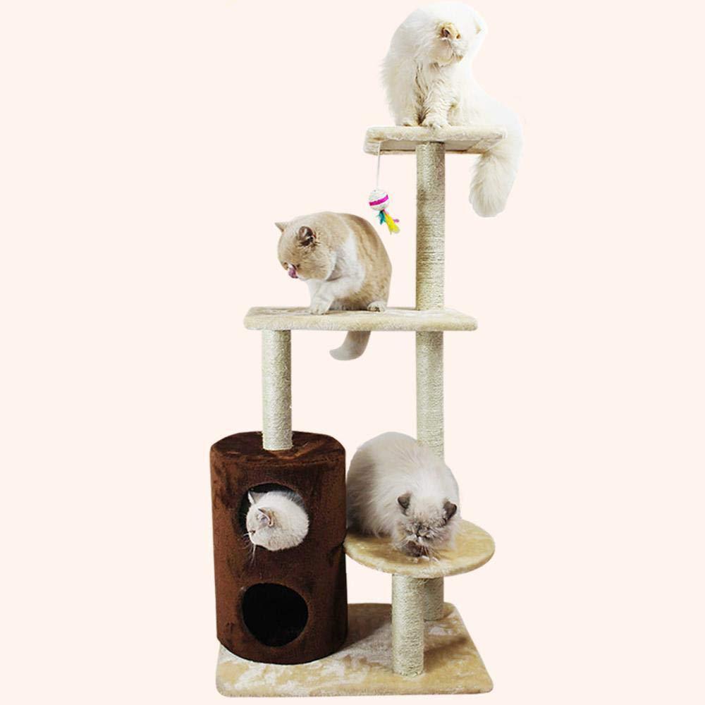 Hexiansheng Cat Climb Trees Cat Scratch Board Cat Toy Pet Toy 55cm40cm115cm Particleboard + dense velvet + sisal