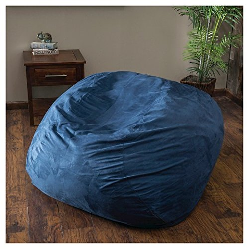 51y1dVLNwKL - Large-XXL-Size-Blue-Color-Comfort-Suede-Bean-Bag-Chair-Cover-Only-by-Ink-Craft