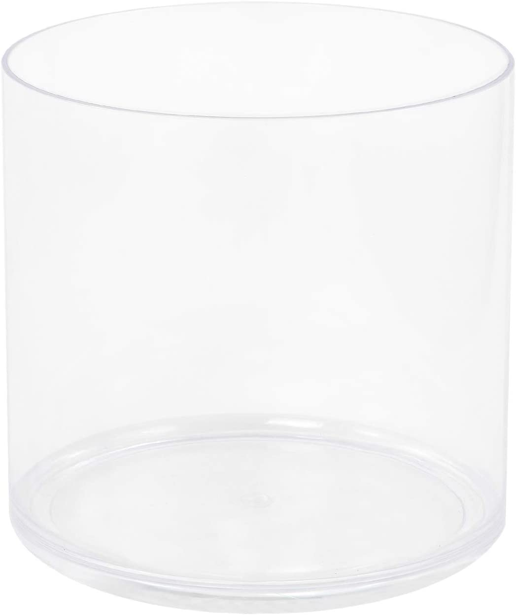"Royal Imports Flower Acrylic Vase Decorative Centerpiece for Home or Wedding Break Resistant - 5"" Cylinder by 5"" Tall"
