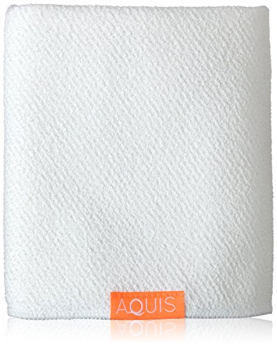 Aquis Lisse Luxe Hair Towel, White, 7 Oz (Lisse Towel Hair)