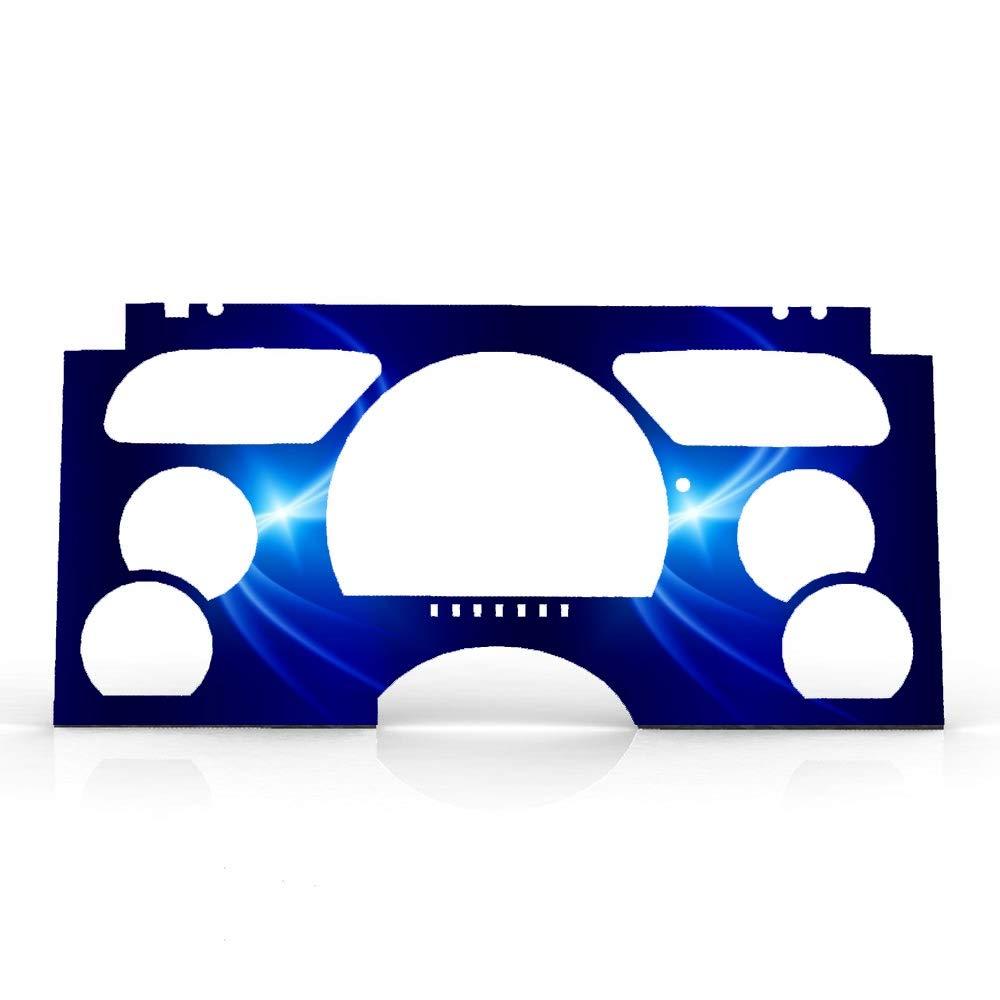 Ferreus Industries Blue Aurora Print Gauge Cluster Dash Bezel Trim fits BZL-166-Aurora-085-02 1995-1997 Chevy S10 No Tachometer RPM Gauges