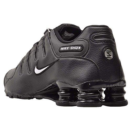 Zapatos corrientes de cuero Shox NZ Black/White
