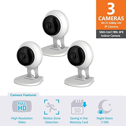 SNH-C6417BN - Samsung Wisenet SmartCam 1080p Full HD Plus Wi-Fi Camera Triple...