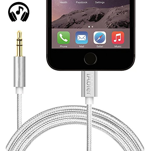Lightning to 3.5mm Male Aux Audio Stereo Cable, iAbler Male to Male Lightning to Auxiliary Audio Stereo Cable for iPhone 7 / 7 Plus to Headphone, Home / Car Stereo, Speaker and More