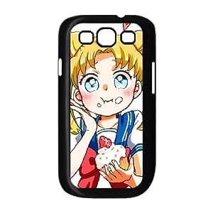 [Sailor Moon] Usagi with a Cupcake Case for Samsung Galaxy S3, Samsung Galaxy S3 Case {Black}