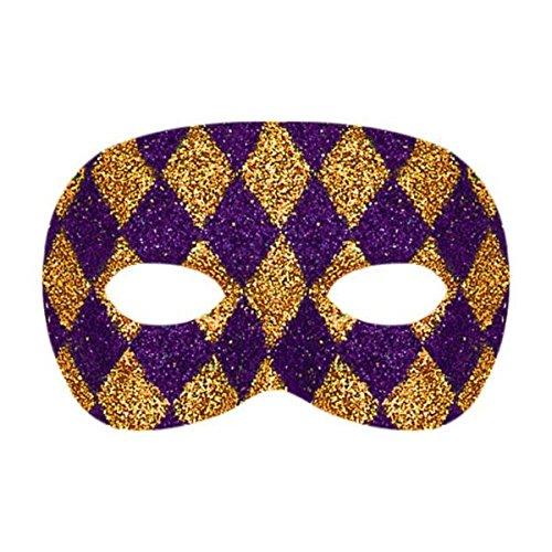 Amscan 360057 Glitter Plastic Mask 3