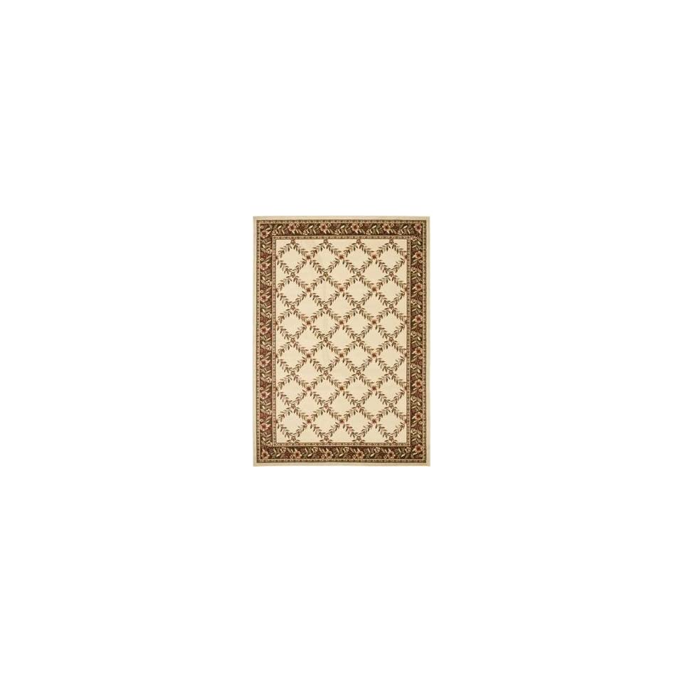 Safavieh Lyndhurst LNH557 1225 53 x 76 Ivory Area Rug