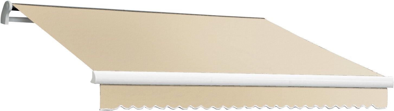 12-Feet Wide by 10-Feet Depth Awntech 12-Feet MAUI EXE Model Manual Retractable Awning Linen