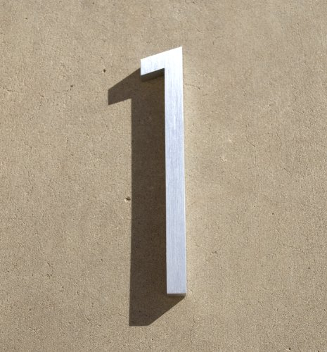 Modern House Number Aluminum Contemporary Font Number One