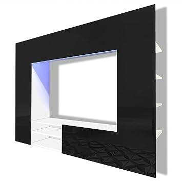 Fesselnd VidaXL Hochglanz Wohnwand Mediawand Schrankwand Anbauwand LED TV Wand 169,2  Cm