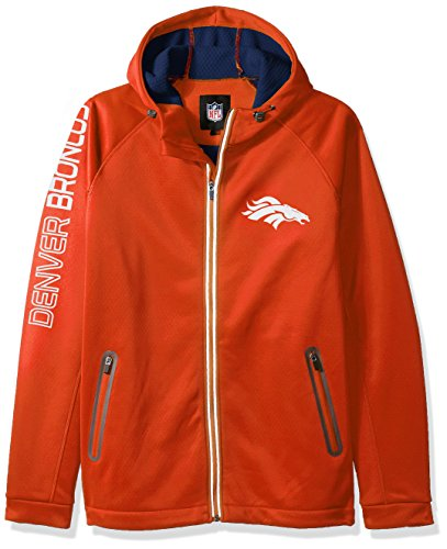 G-III Sports NFL Denver Broncos Motion Full Zip Hooded Jacket, X-Large, Orange (Jacket Mens G-iii)
