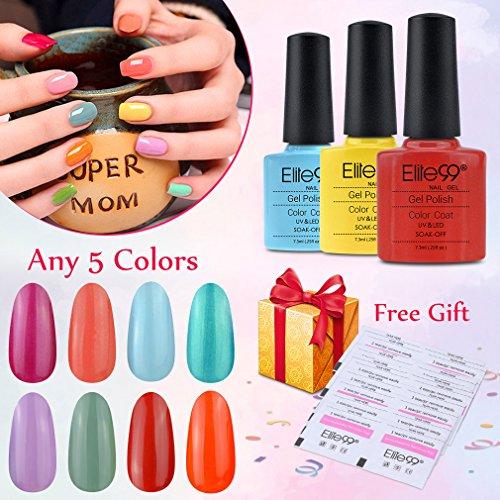 Elite99 Pick Any 5 Colors Soak Off Gel Nail Polish UV LED Co