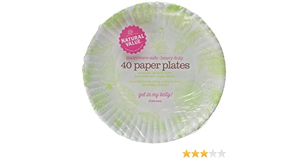 Amazon.com Natural Value Paper Plates 9 Inch Diameter 40 Count Boxes (Pack of 24) Health \u0026 Personal Care  sc 1 st  Amazon.com & Amazon.com: Natural Value Paper Plates 9 Inch Diameter 40 Count ...