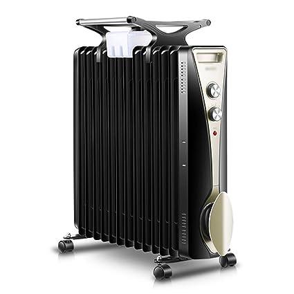 JianMeiHome Calentador Radiador Calentador eléctrico portátil de 2600W Lleno de Aceite - 3 ajustes de Potencia