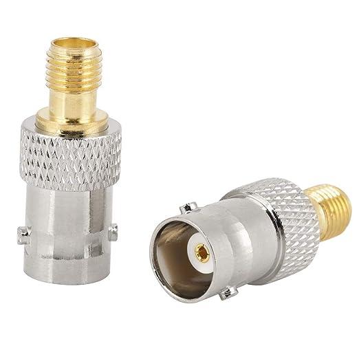 2pcs BNC hembra a SAM hembra Tipo RF Adaptador de Conector Coaxial ...