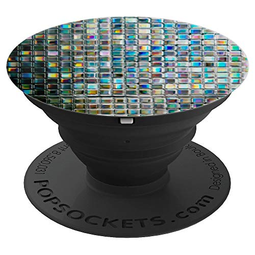 Mermaid Dark Rainbow Mosaic Gem Tiles - Purple Crystal Tiles - PopSockets Grip and Stand for Phones and Tablets -