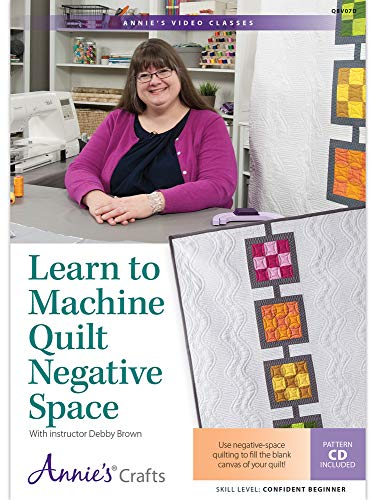 (Learn to Machine Quilt Negative Space DVD: Use negative-space quilting to fill the blank canvas of your quilt! )