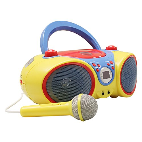 Kids CD Player/Karaoke Machine with Microphone