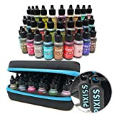 #5: 30x Tim Holtz Alcohol Ink .5oz Bottles (Assorted Colors), Pixiss Alcohol Ink Storage Carrying Case Organizer, Stores 30x 0.5-Ounce Bottles of Alcohol Ink, Stickles, Glossy Accents or Reinkers, Travel
