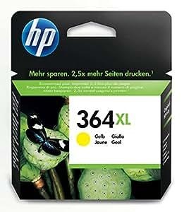 HP 364XL - Cartucho de tinta Original HP 364XL de álta capacidad Amarillo para HP DeskJet, HP OfficeJet y HP PhotoSmart