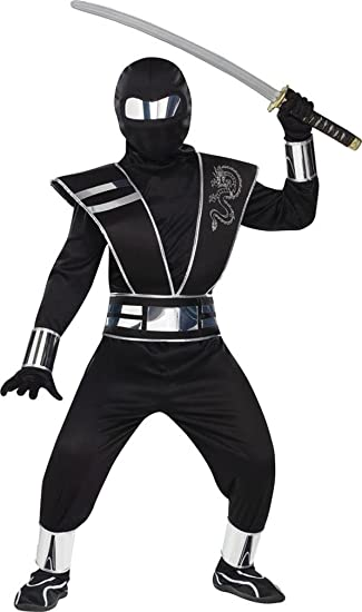 Amazon.com: Disfraz para niños de Ninja Silver Mirror ...