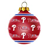 Forever Collectibles Philadelphia Phillies Repeat Print Glass Ball Ornament